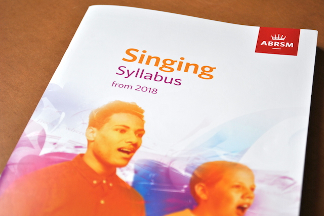 ABRSM 2018 singing syllabus: more choice?