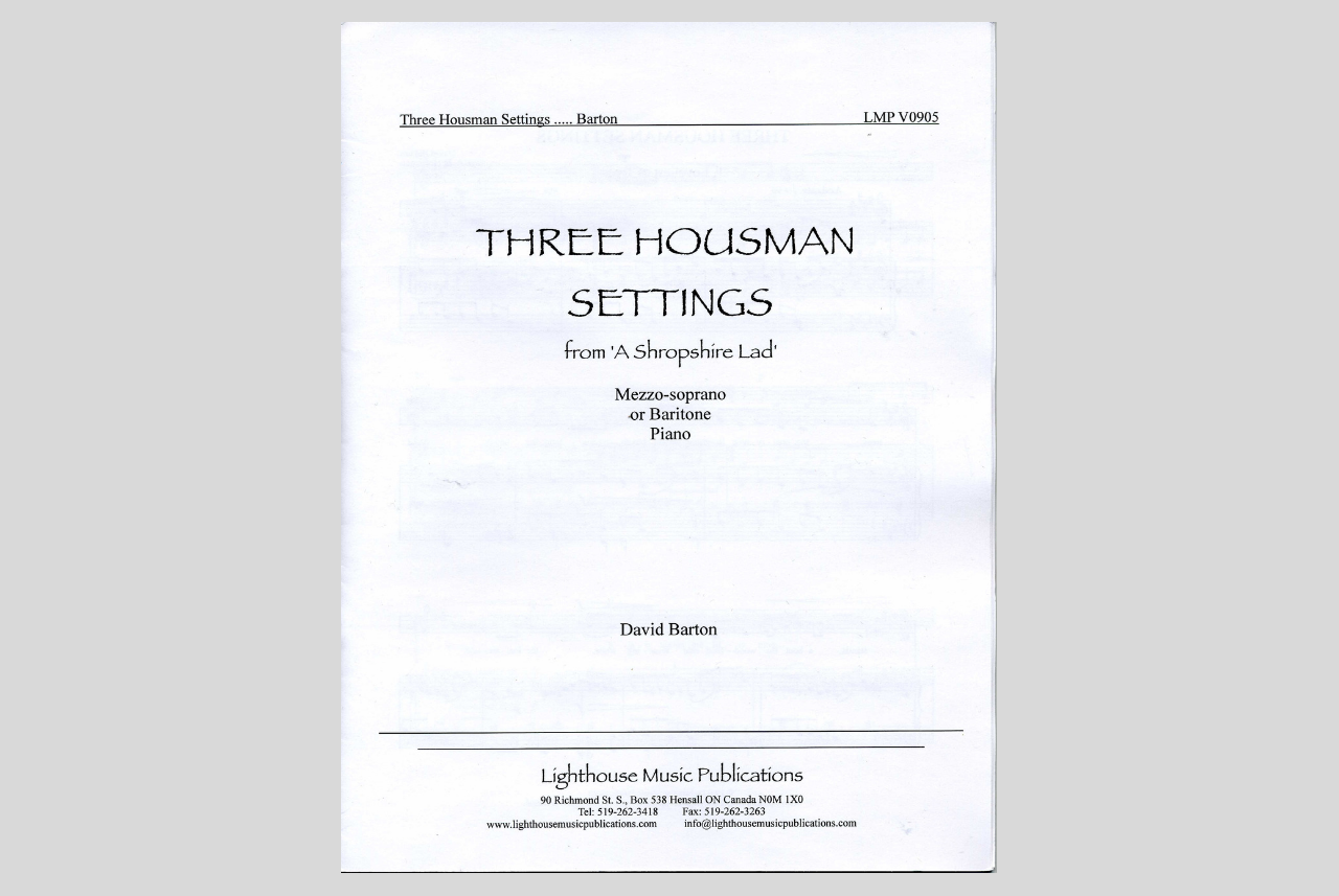 Three Housman Settings