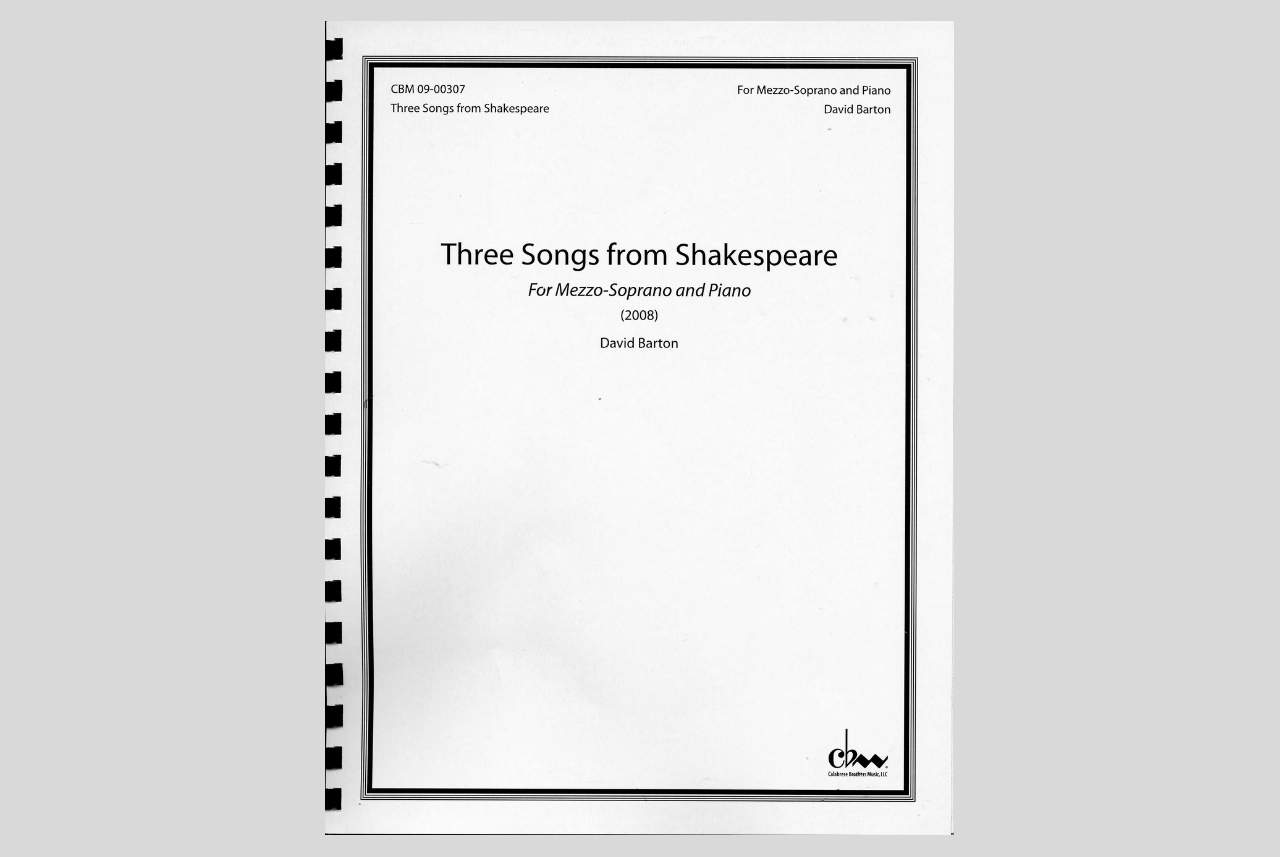 Three Songs from Shakespeare