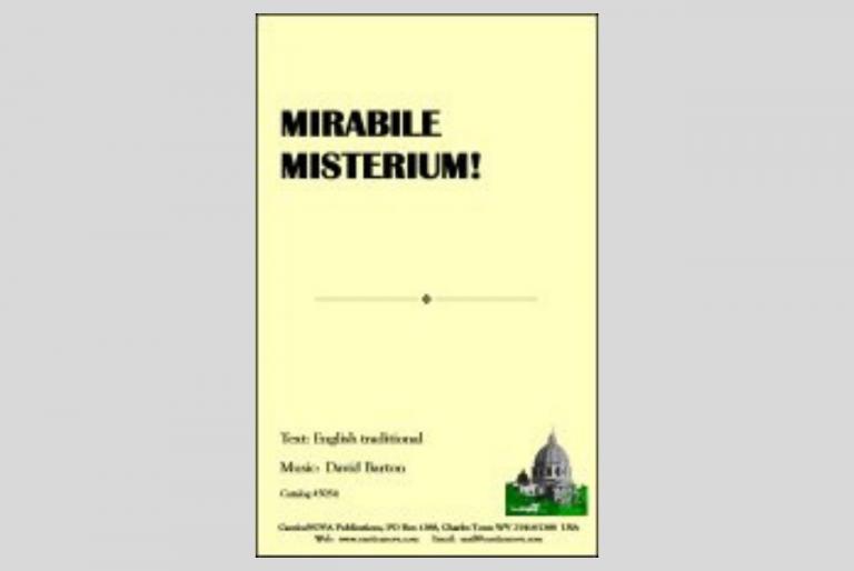 Mirabile Misterium!