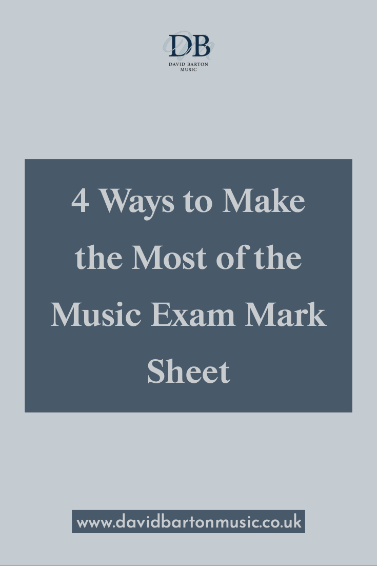 4 Ways to Make the Most of the Music Exam Mark Sheet