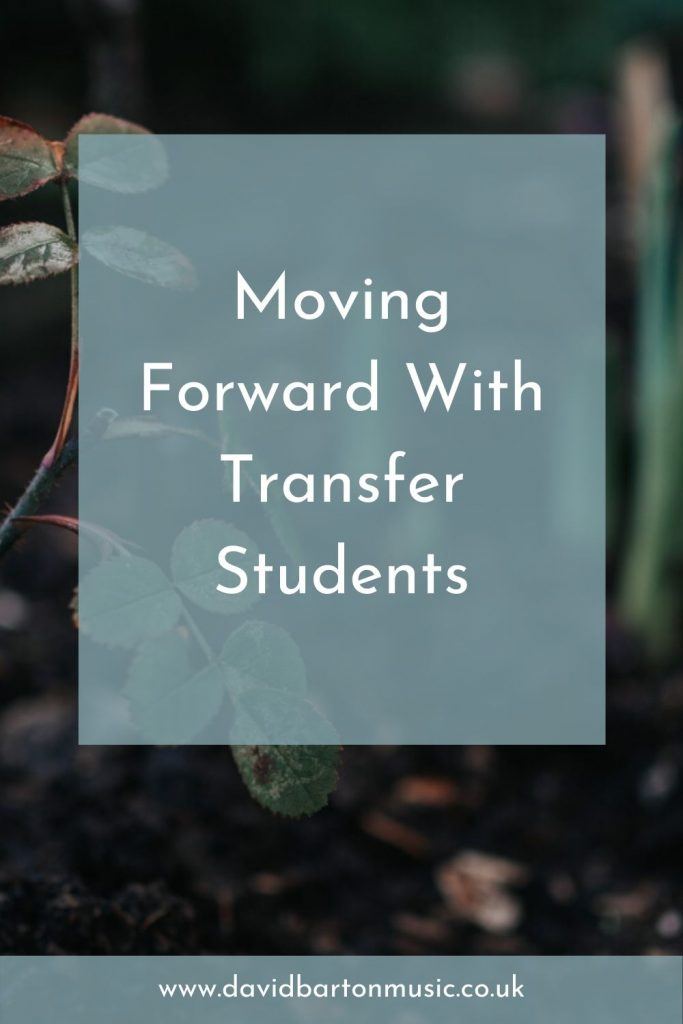 Moving Forward with Transfer Students. Pinterest graphic.