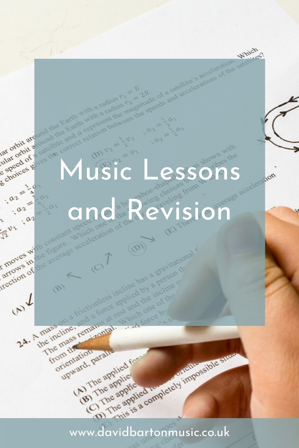 Music Lessons and Revision - Pinterest graphic