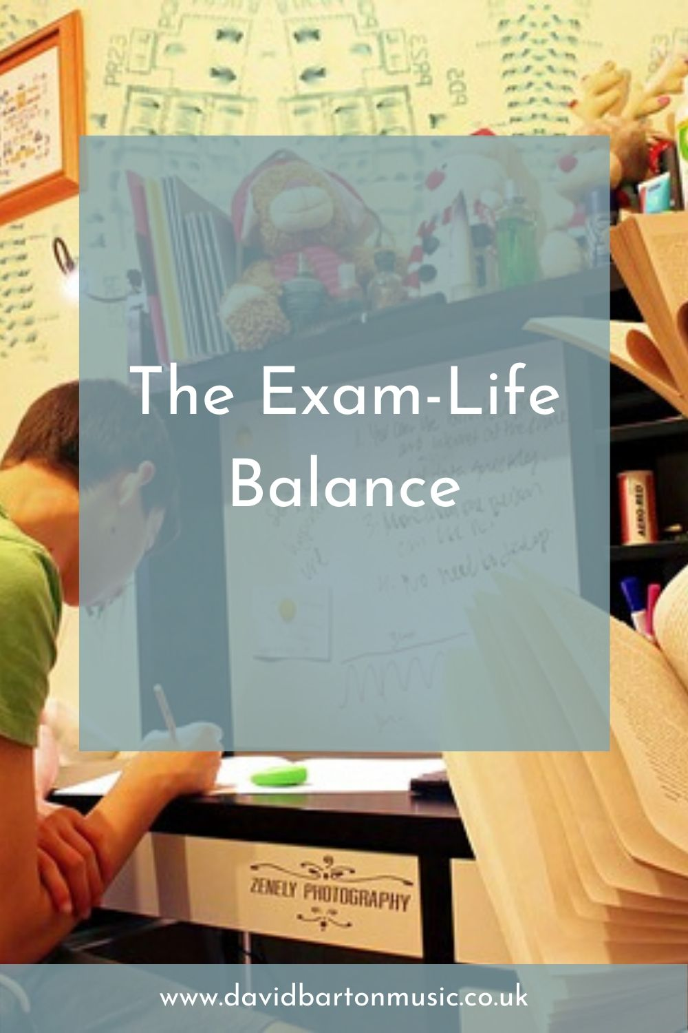 The Exam-Life Balance - Pinterest graphic
