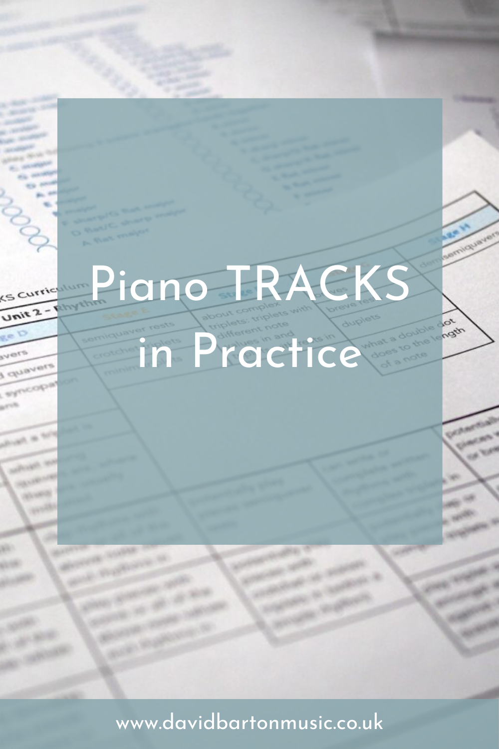 Piano TRACKS in Practice - Pinterest graphic