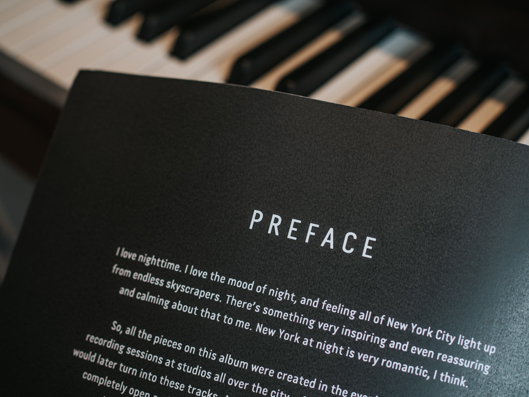 Preface for the sheet music for Night for Solo Piano by Ola Gjeilo