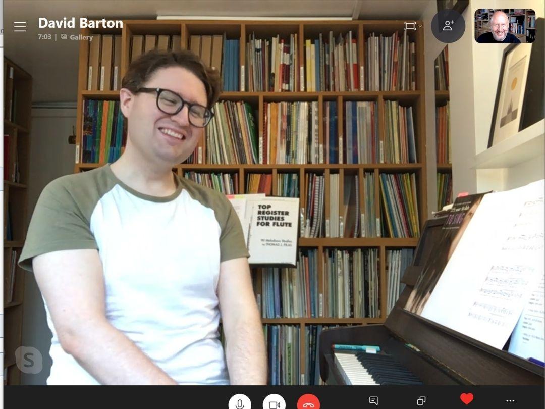 Teaching online music lessons