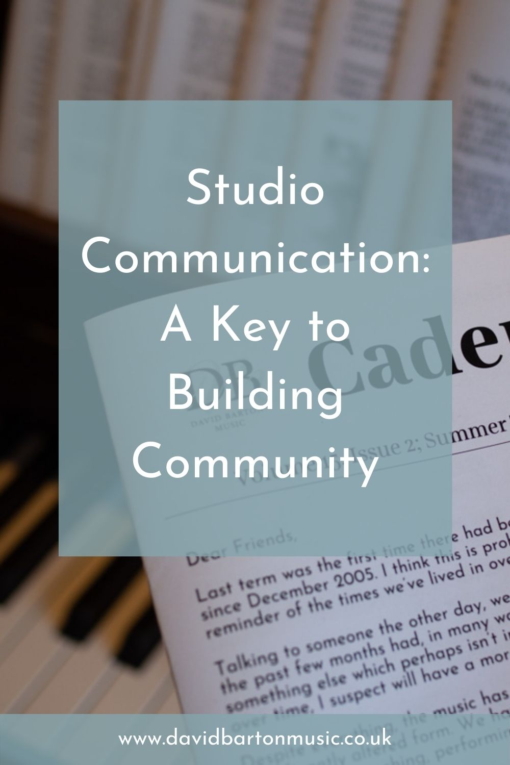Studio Communication: A Key to Building Community - Pinterest graphic