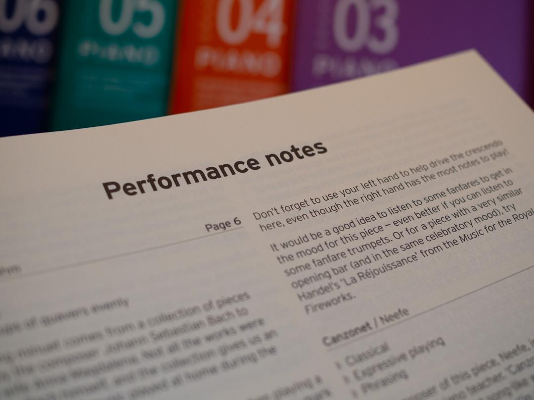 Trinity Piano Syllabus 2021-23 - Performance notes example