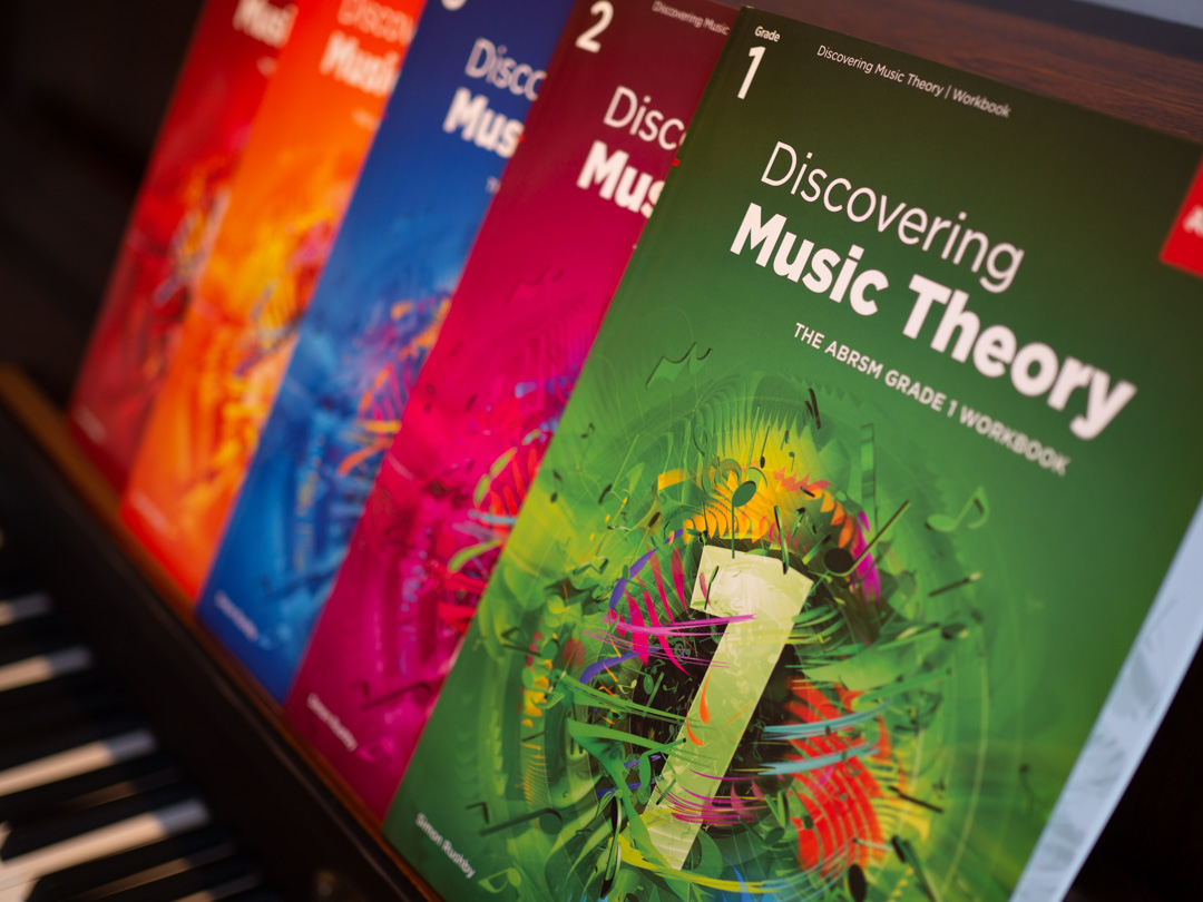 ABRSM Discovering Music Theory workbooks for Grades 1-5
