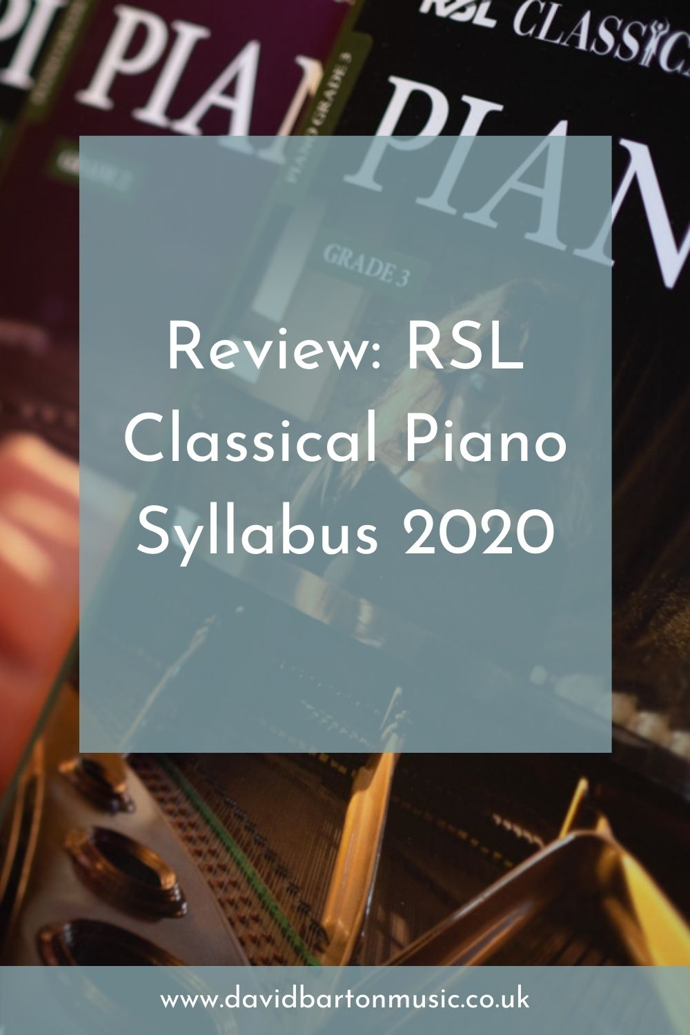 Review: RSL Classical Piano Syllabus 2020 - Pinterest Graphic