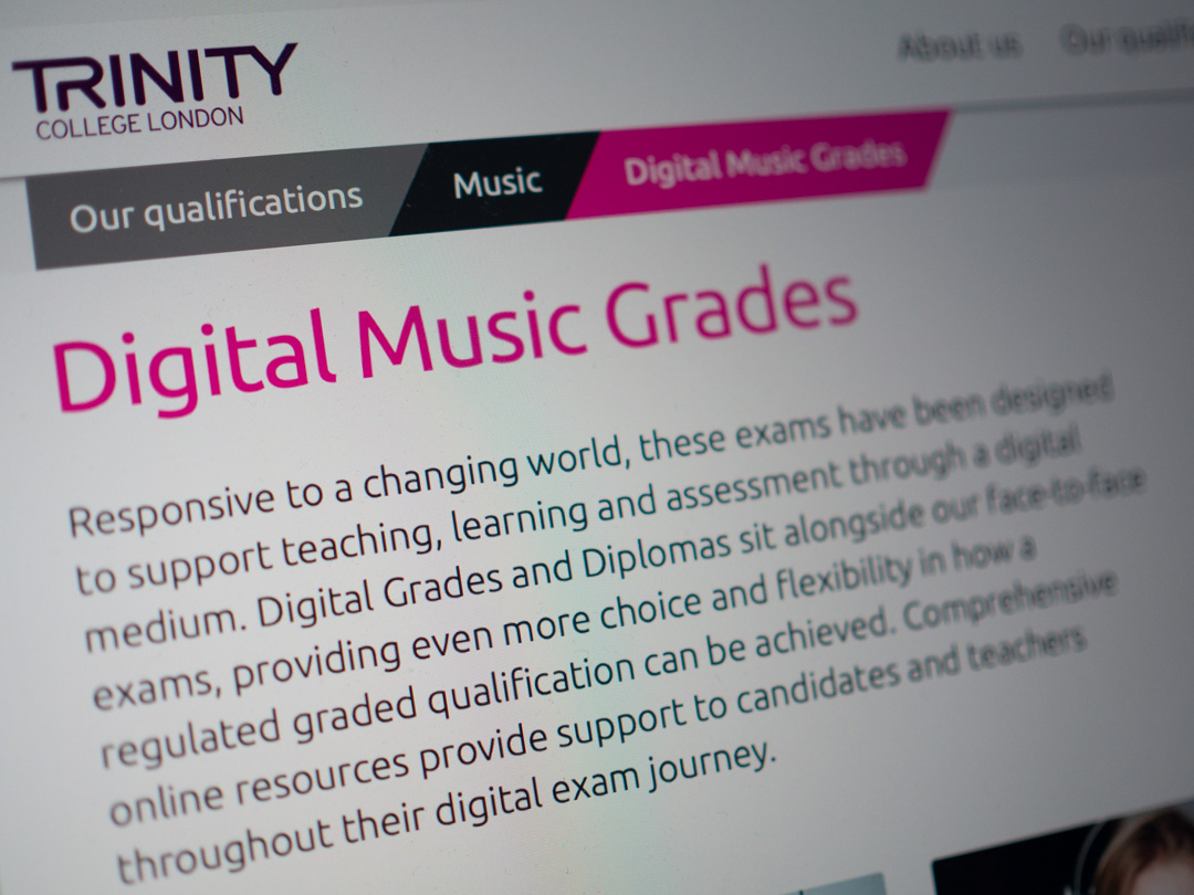 Trinity Digital Music Grades