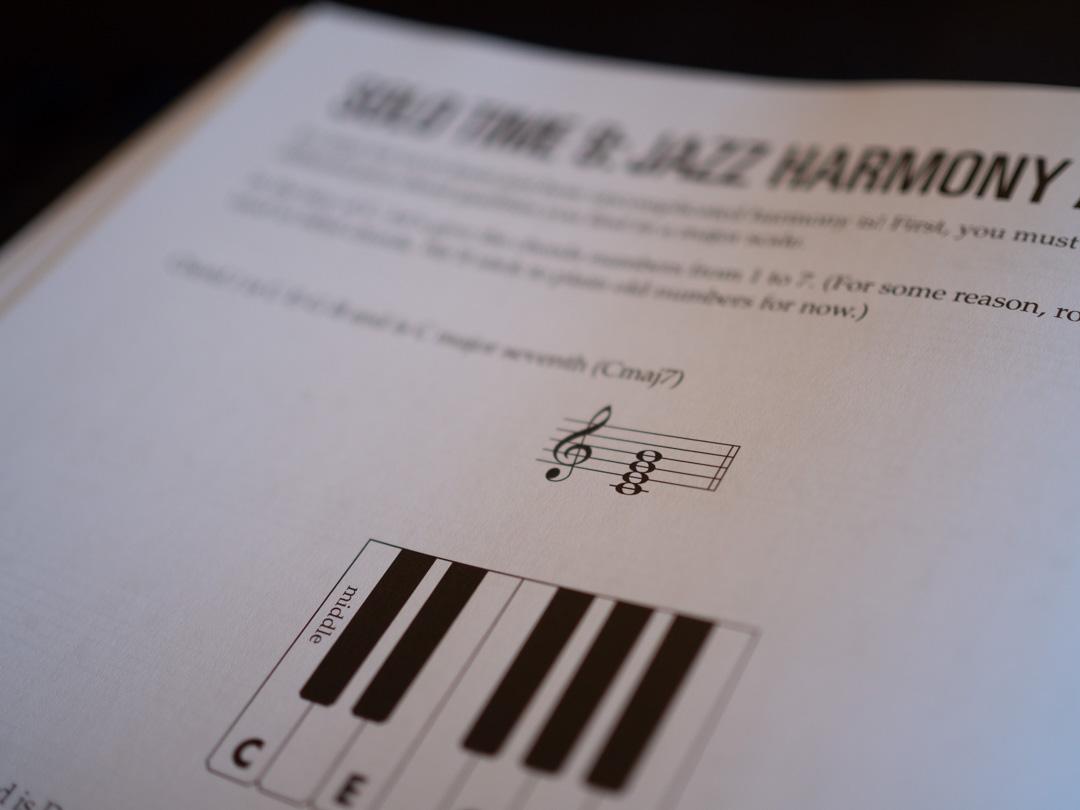 Jazz piano harmony