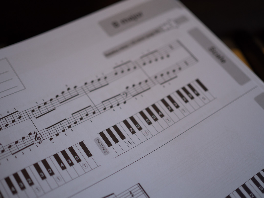 Piano Trainer Scales Workbook B major scale
