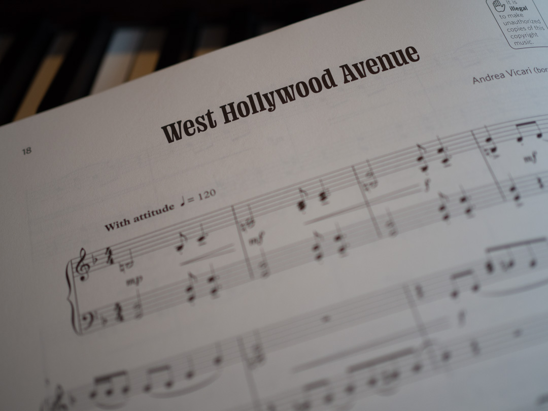 West Hollywood Avenue from Nikki Iles & Friends, Jazz Pieces for Piano