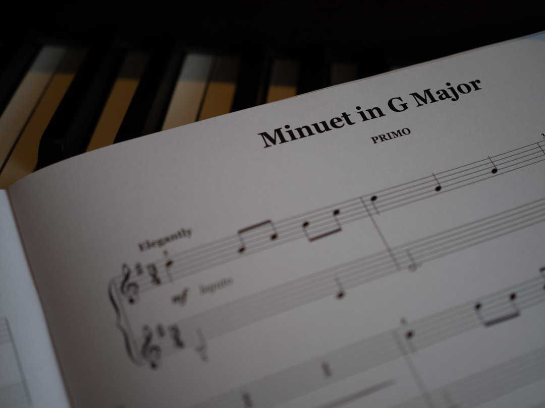 Minuet in G major from John Thompson's First Classical Duets