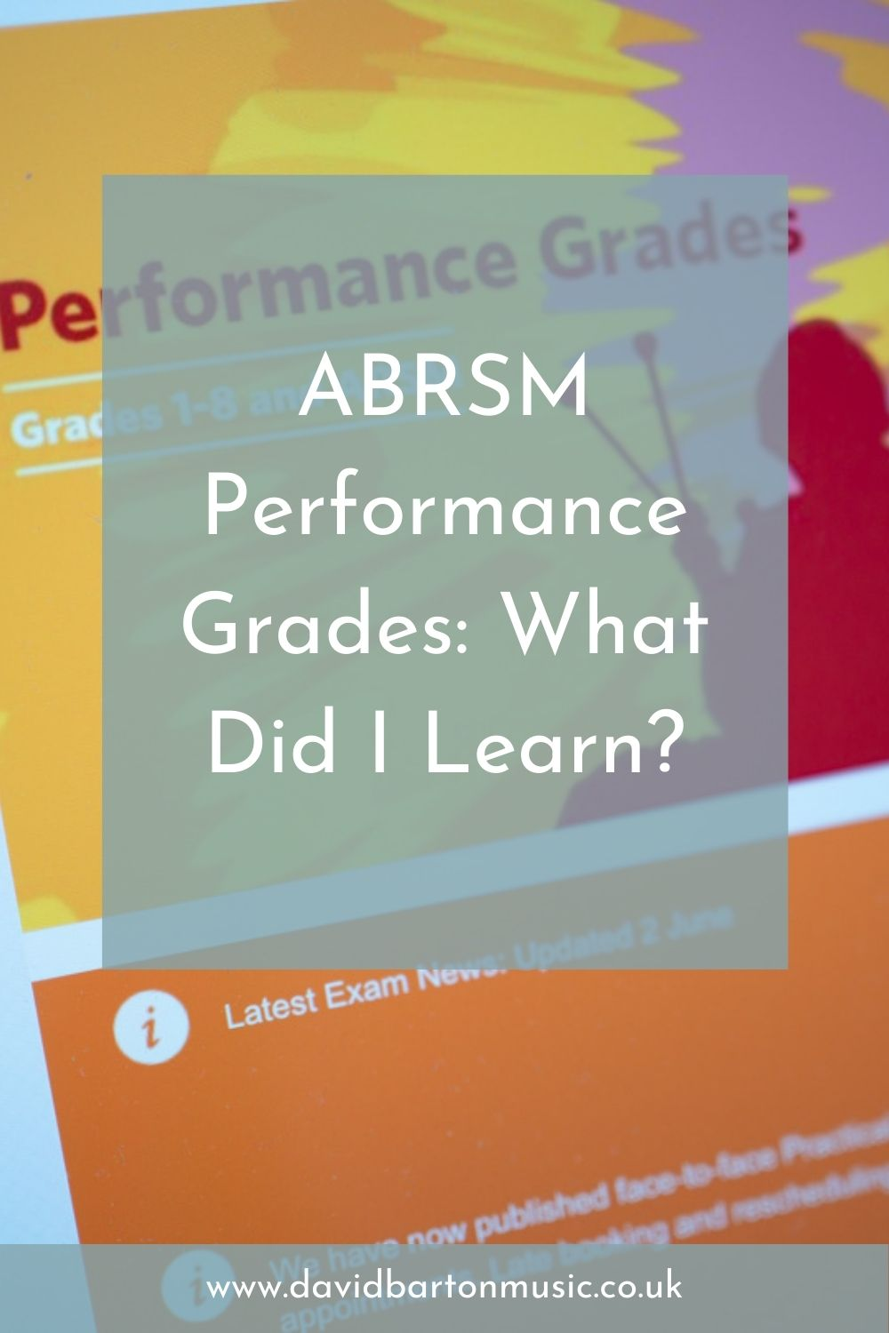 ABRSM Performance Grades: What Did I Learn? - Pinterest Graphic