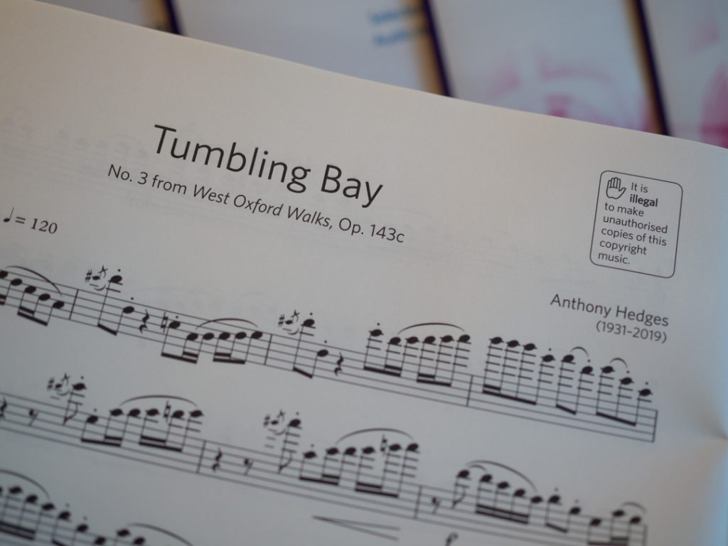 Tumbling Bay by Anthony Hedges, ABRSM Flute Grade 7