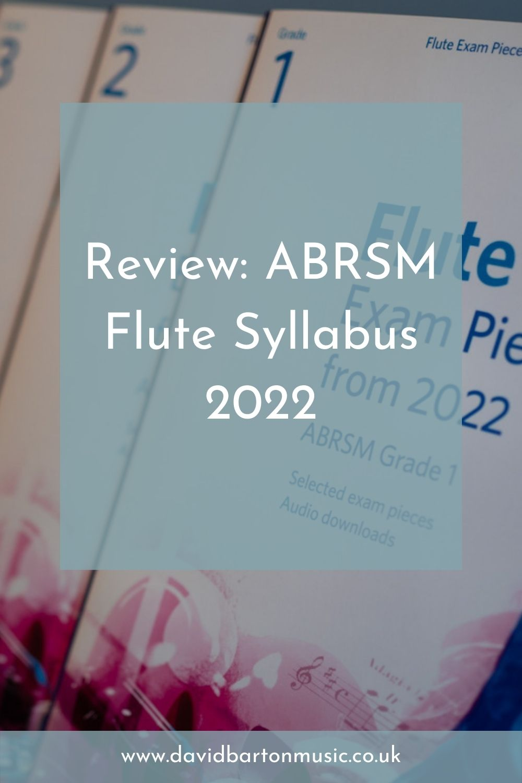 Review: ABRSM Flute Syllabus 2022 - Pinterest Graphic